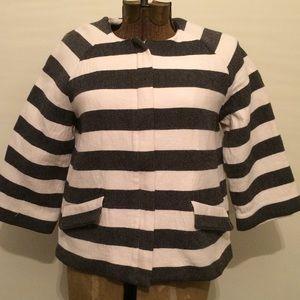 lord & taylor striped jacket blazer sz 8 classic